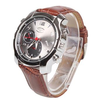 Q-30 16GB 1080P HD IR Night Vision Multifunctional Recorder Watch Coffee