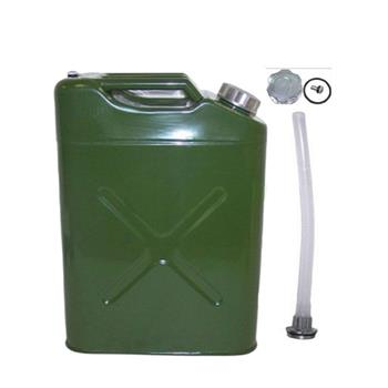 20L US Standard Cold-rolled Plate Petrol Diesel Can Gasoline Bucket with Oil Pipe Army Green
