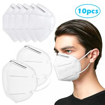 10 PCS KN95 Masks Air Purifying Dust Pollution Vented Respirator Face Mask Mouth Masks