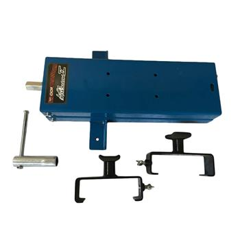 Motorcycle Steel Adjustable Scissor Lift with Fixation Clamp Blue