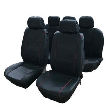 9pcs General Seasons 5 Seats Car Seat Covers Set Gray & Black