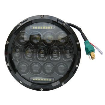 """7"""" 75W 13-LED 6500K White Light IP67 Waterproof LED Headlight for Motorcycles Black"""