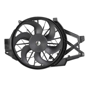 Radiator & Condenser Single Cooling Fan Assembly For Ford 99-04 Mustang 3.8