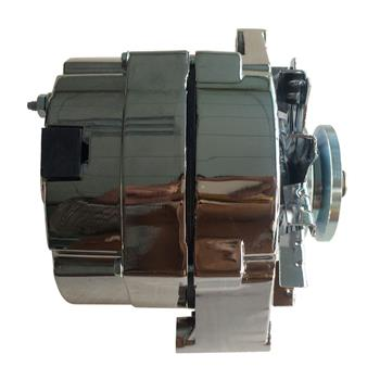 Alternator Chrome Plated for Chevrolet 75-85 105AMP 1 Line