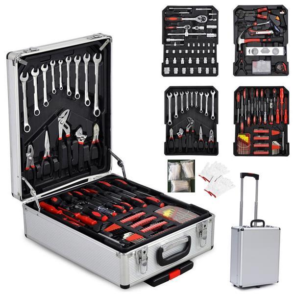 799pcs Aluminum Trolley Case Tool Set Silver