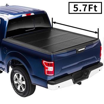 "Flip Hard Folding Truck Bed Tonneau Cover Fits 2009-18 DodgeRam 5'7"""