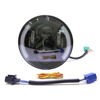 "2pcs 7"" 50W 6500-7000K White Light IP67 Waterproof LED Headlights for Motorcycles White & Yellow"