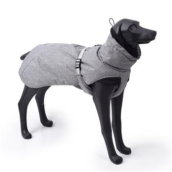 New Style Dog Winter Jacket with Waterproof Warm Polyester Filling Fabric-(Gary ,size 2XL)