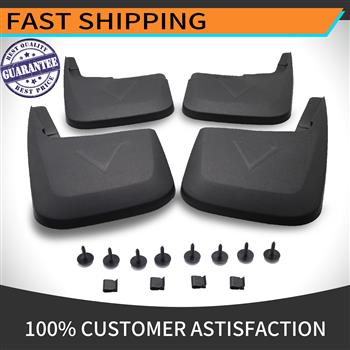 MUD FLAPS For Splash Guards Mud Flaps Mudflaps Molded Replacement For Ford F-150 F150 2015-2020 Front W/O Fender Flares Front And Rear 4-Pc Set Without OEM Fender Flares