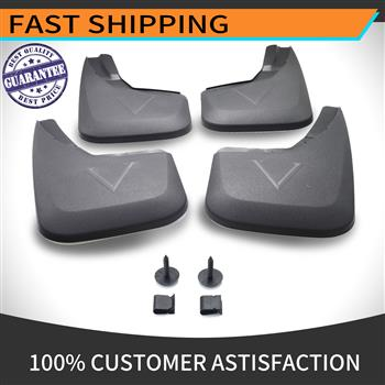 Mud Flap for Splash Guard Kit Compatible 2014-2018 Chevrolet Silverado W/O Fender Flares Instruction is Included One Set of Four Pieces