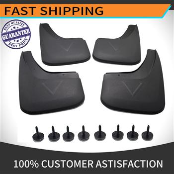 MUD FLAPS For Compatible GMC Sierra 2014-2018 Fender Flares Instruction and Hardware for Installation are Included