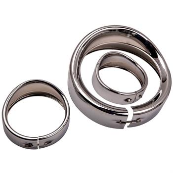 7 inch Visor Style Headlamp Trim Ring & 4.5 inch Trim Ring For Street Glide