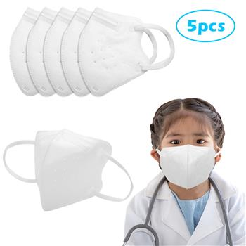5 PCS KN95 Masks Air Purifying Dust Pollution Vented Respirator Face Mouth Masks For Children