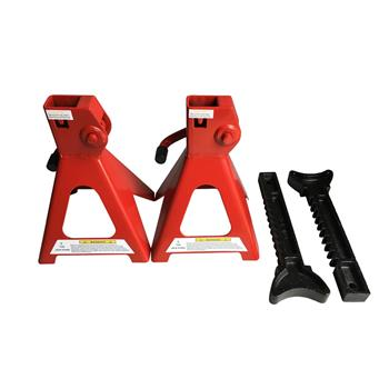1 Pair of 3 Ton Jack Stands Red