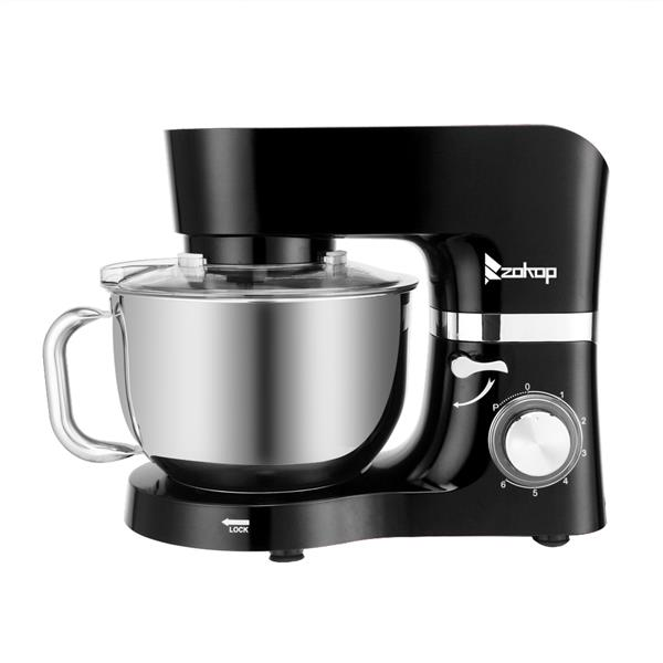 ZOKOP ZK-1503 Chef Machine 5.5L 660W Mixing Pot With Handle Black