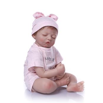 """【Do Not Sell on Ebay】20"""" Beautiful Simulation Baby Girl Reborn Baby Doll in Pink Dress"""
