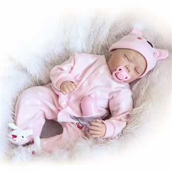 """【Do Not Sell on Ebay】Fashionable Lovely Play House Toy Simulation Baby Doll with Clothes Pink Size 22"""""""