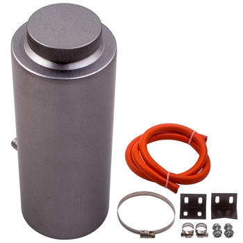 800ml Aluminum Alloy Cylinder Radiator Coolant Catch Tank Overflow Reservoir