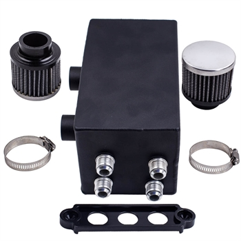 10AN 4 Port Oil Catch Can Tank Breather For Honda Civic Acura Integra