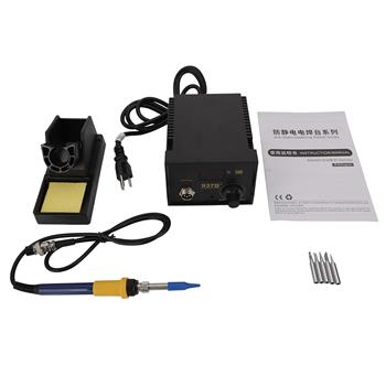 937D  Constant-Temperature Soldering Station Digital Display Soldering Station with 5pcs Solder Tips US Plug Black