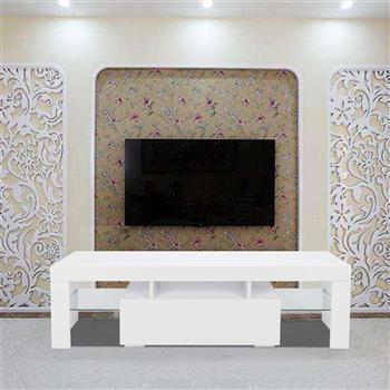 Elegant Household Decoration LED TV Cabinet with Single Drawer White