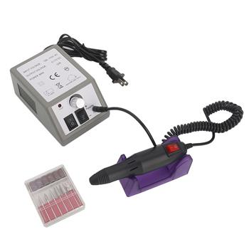 Professional 20000RPM Nails Care Electric Polisher Nail Art Drill US Standard Gray