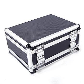 30*15*23cm Aluminum New Framed Locking Gun Pistol HandGun Lock Box Hard Storage Carry Case Black