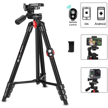 Zomei T70 Portable Tripod with Phone Clip and Bluetooth Remote Black Red