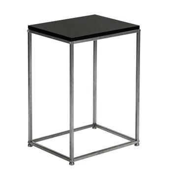 Artisasset Black MDF Countertops Grey Wrought Iron Base Single Layer Snack Table