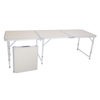 180 x 60 x 70cm Home Use Aluminum Alloy Folding Table White