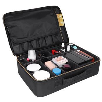 Professional Cosmetic Makeup Bag Organizer Makeup Boxes Black-L
