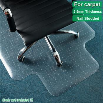 90 x 120 x 0.25cm PVC Home-use Protective Mat Chair Pad with Nail for Floor Chair Transparent