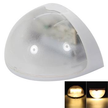 N760B 6-LED Warm White Light Waterproof Wall Mounted Solar Lamp