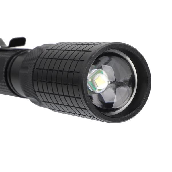 Tactical 5-modes Zooming Flashlight Set Black
