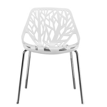 4pcs Bird's Nest Style Lounge Chair White