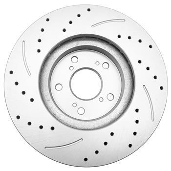 1 Set /2 BD125674 31275 Streaking Front Brake Disc Silver