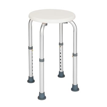 8 Levels Adjustable Aluminum Alloy Elderly Round Shower Stool