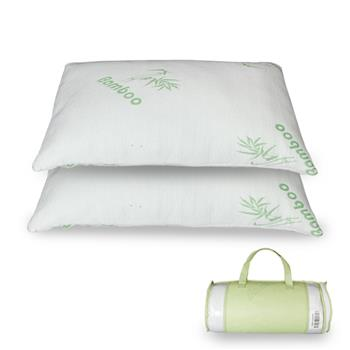 Premium Firm Hypoallergenic Bamboo Fiber Memory Foam Pillow Queen (Single)