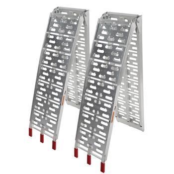 2pcs Aluminum Folding ATV Ramps Silver