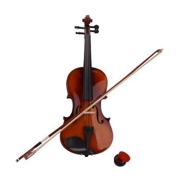 New 4/4 Acoustic Violin Case Bow Rosin Natural