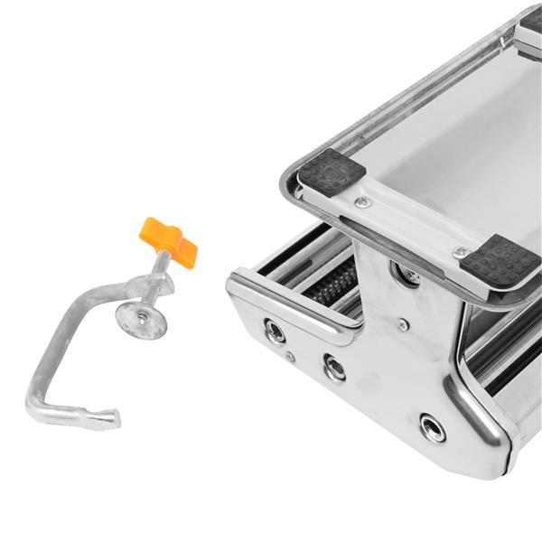 Dual-blade Multifunctional Manual Hand-cranking Operation Stainless Steel Noodle Making Machine Silv