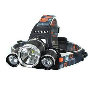 LW-5000 3*LED 10W 3-Mode 5000LM White Light Headlamp Black
