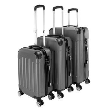 "3-in-1 Portable ABS Trolley Case 20"" / 24"" / 28"" Dark Gray"