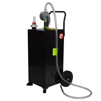 30 Gallon Gas Caddy Tank Storage Drum Gasoline Diesel Fuel Transfer Black JGC30 RAL7021