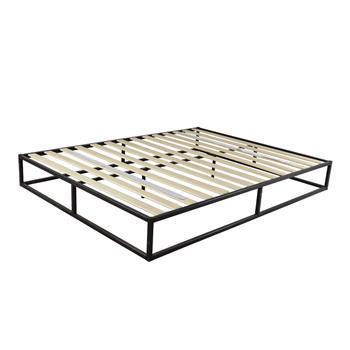 Simple Basic Iron Bed Full Size Black