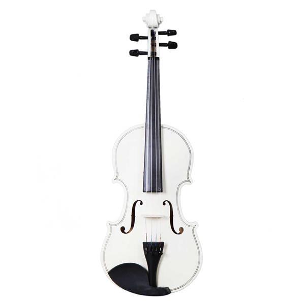New 4/4 Acoustic Violin Case Bow Rosin White