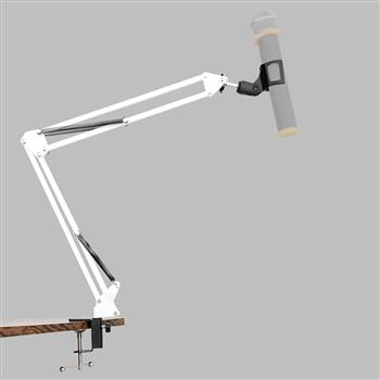 Professional Recording Cantilever Microphone Stand White