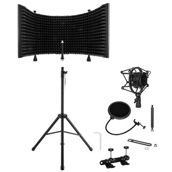 Microphone Sound-Absorbing Hood Desktop Using The Floor With Holder Using The Complimentary Pop Filter Complimentary Microphone Shock Mount