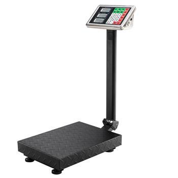 100KG/220lbs LCD Digital Personal Floor Postal Platform Scale with 30*40 Platform & 0.6mm Plate Black UK Plug