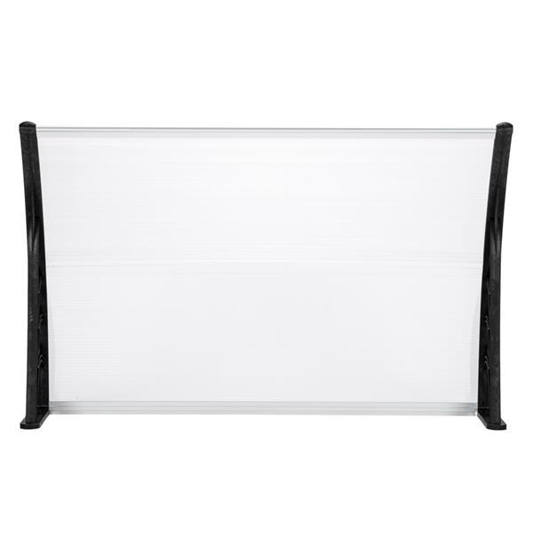 HT-150 x 100 Household Application Door & Window Rain Cover Eaves Canopy White & Black Bracket